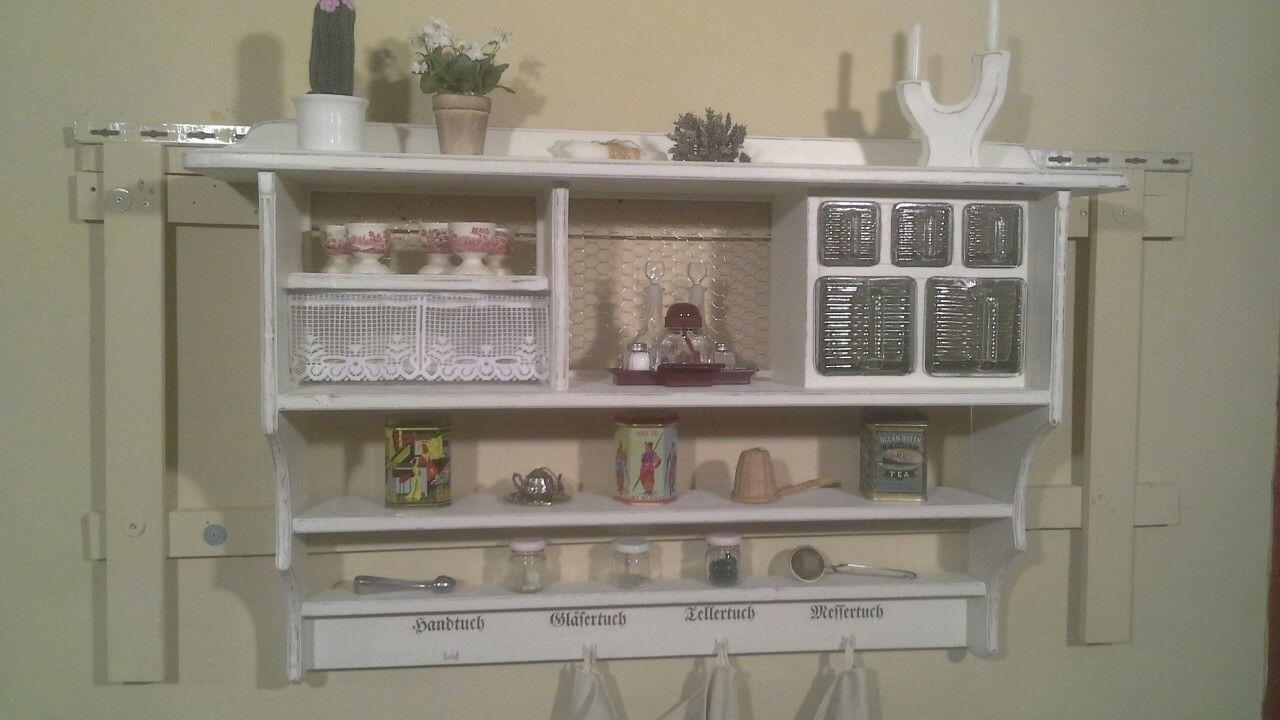 aus der holzwerkstatt von ansolece vintage shabby chic regal m bel k che kitchen cuisine. Black Bedroom Furniture Sets. Home Design Ideas
