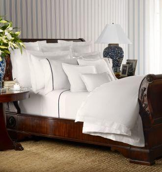 White Palmer Bedding