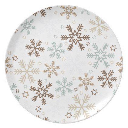 Holiday Plastic Plate-Snowflakes Melamine Plate - Xmas ChristmasEve Christmas Eve Christmas merry xmas family  sc 1 st  Pinterest & Holiday Plastic Plate-Snowflakes Melamine Plate - Xmas ChristmasEve ...