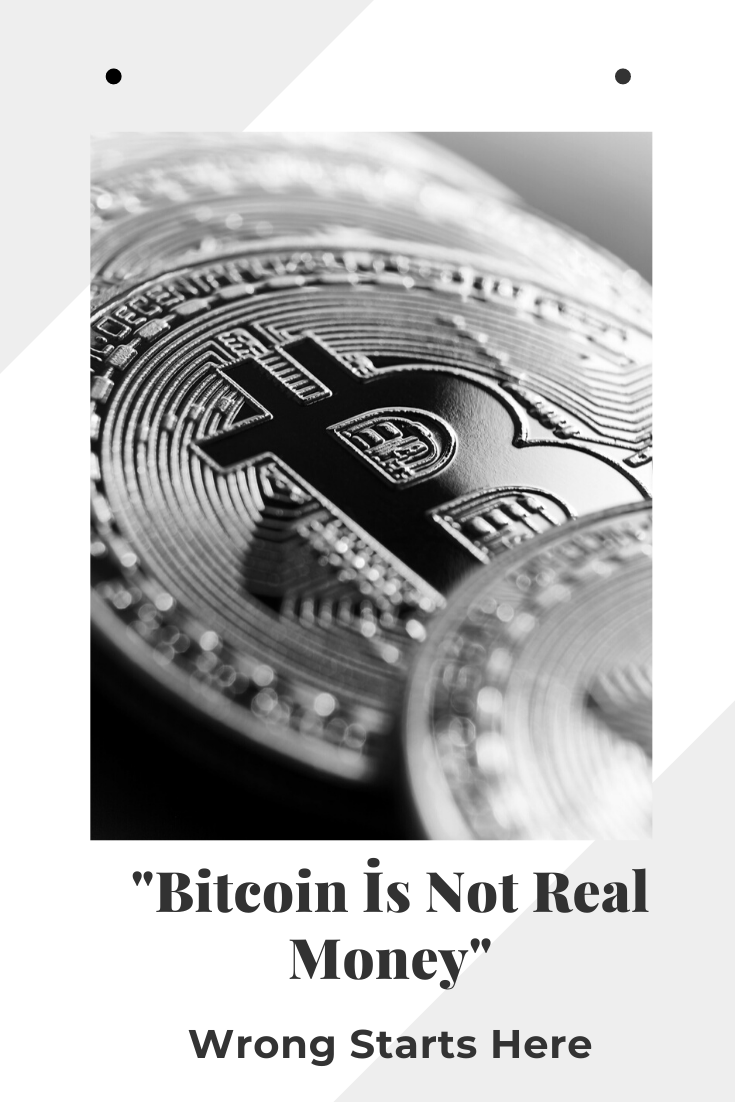 does bitcoin use real money