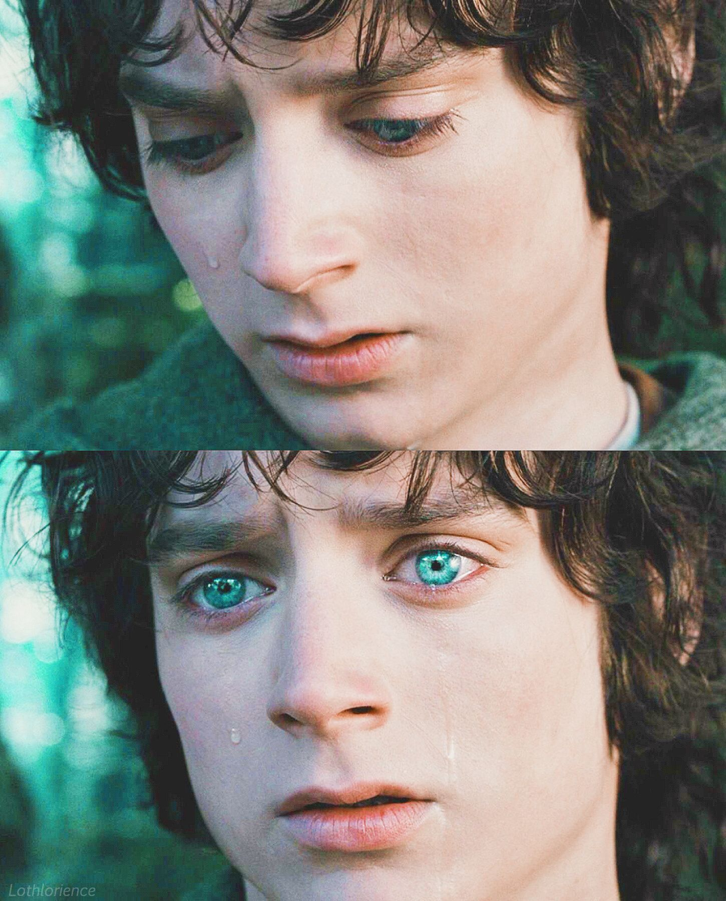 His Eyes People With Dark Hair And Blue Eyes Are So Rare Compared To The Typical Blonde And Blue Eye Frodo Lord Of The Rings The Hobbit