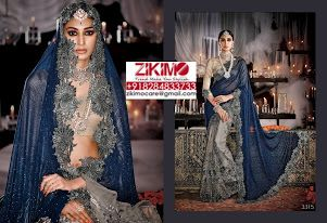 Indian Wedding Wear Heavy Work Sarees.