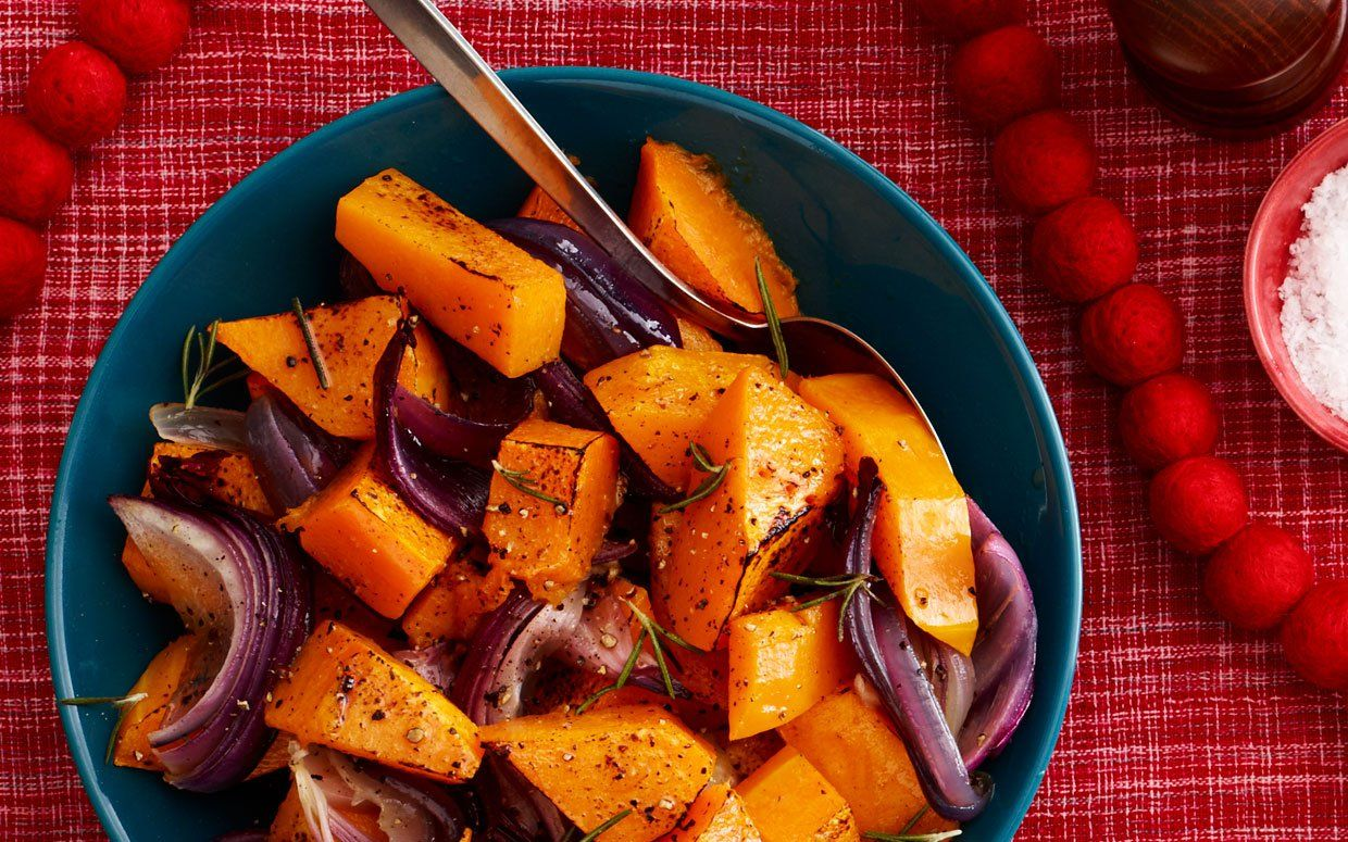 Butternut squash caramelizes when roasted, turning it supersweet.