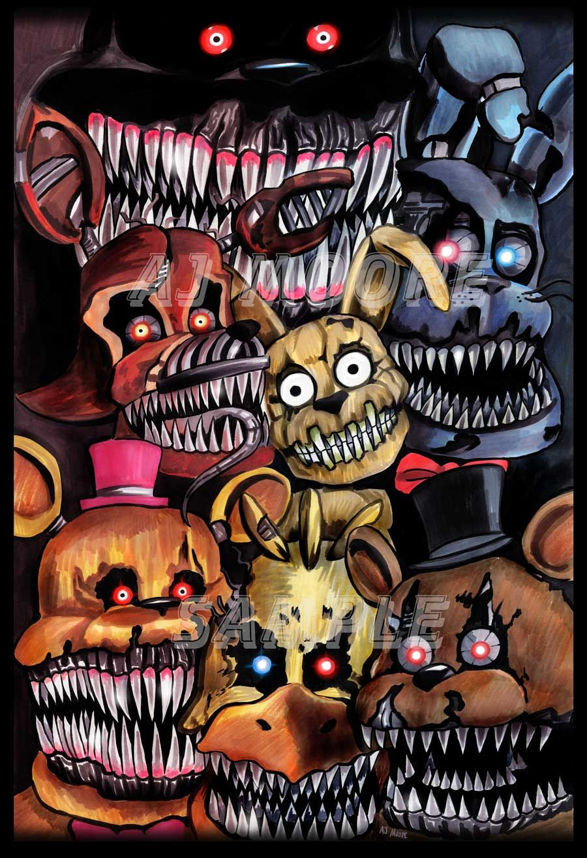 Nightmare Animatronics Five Nights At Freddy S 4 By Artist Aj