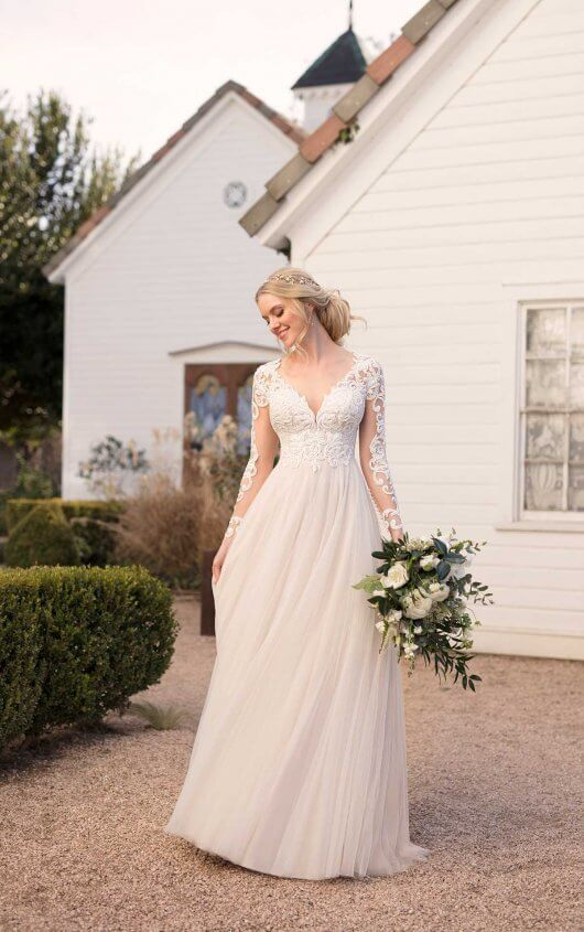 Boho Wedding Dress with Empire Waist | Martina Liana