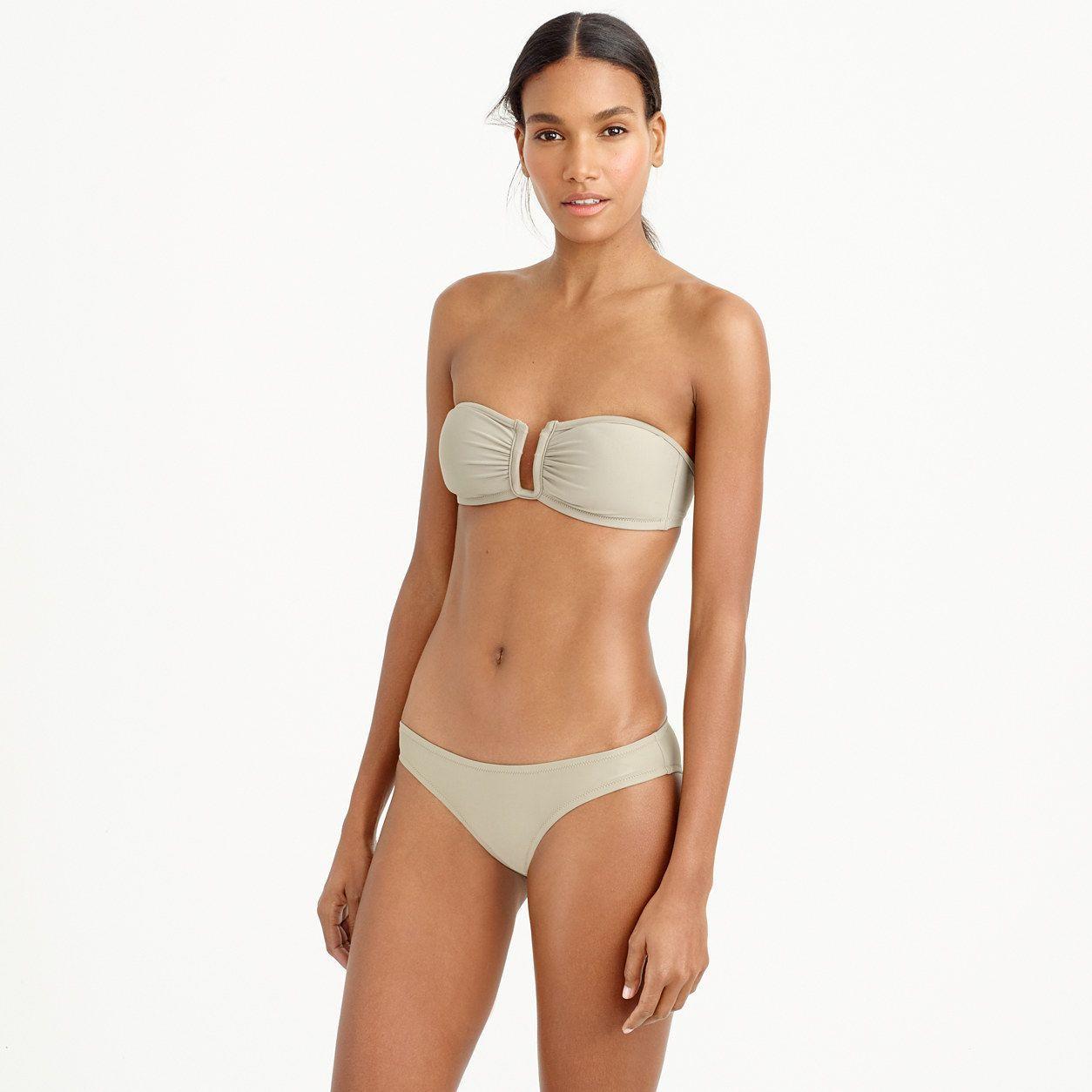e47b296d1b27c J.Crew Womens U-Front Bandeau Bikini Top (Size XL)