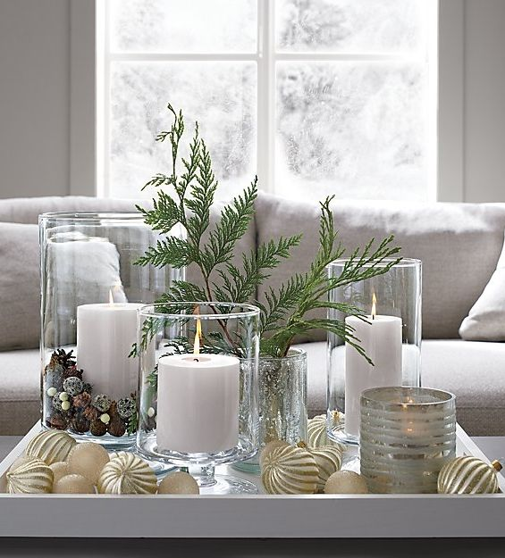 Candle Centerpiece Ideas Crate And Barrel Hurricane Candles Christmas Candle Glass Hurricane Candle Holder
