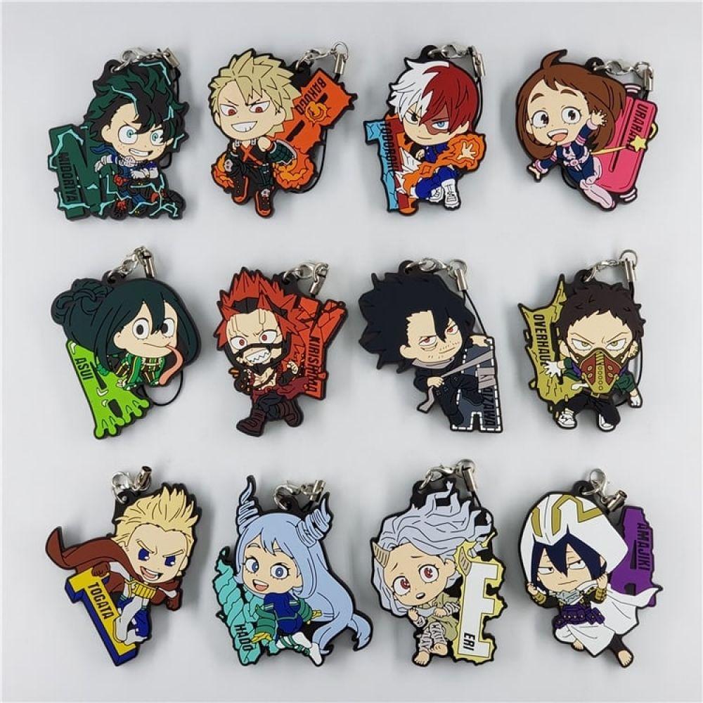 My Hero Academia Rubber Keychain Animegoodys Com My Hero Academia Merchandise My Hero My Hero Academia