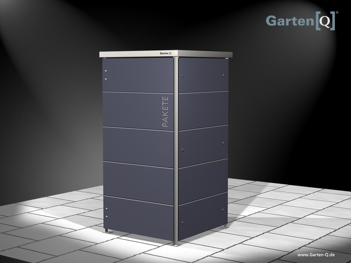 Moderne Paketbox Vor Das Haus Schliessfacher Paketkasten Mulltonnenhauschen