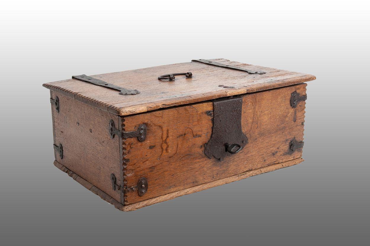 Furniture Box German Iron Bound Box 16th Century Marhamchurch Antiques