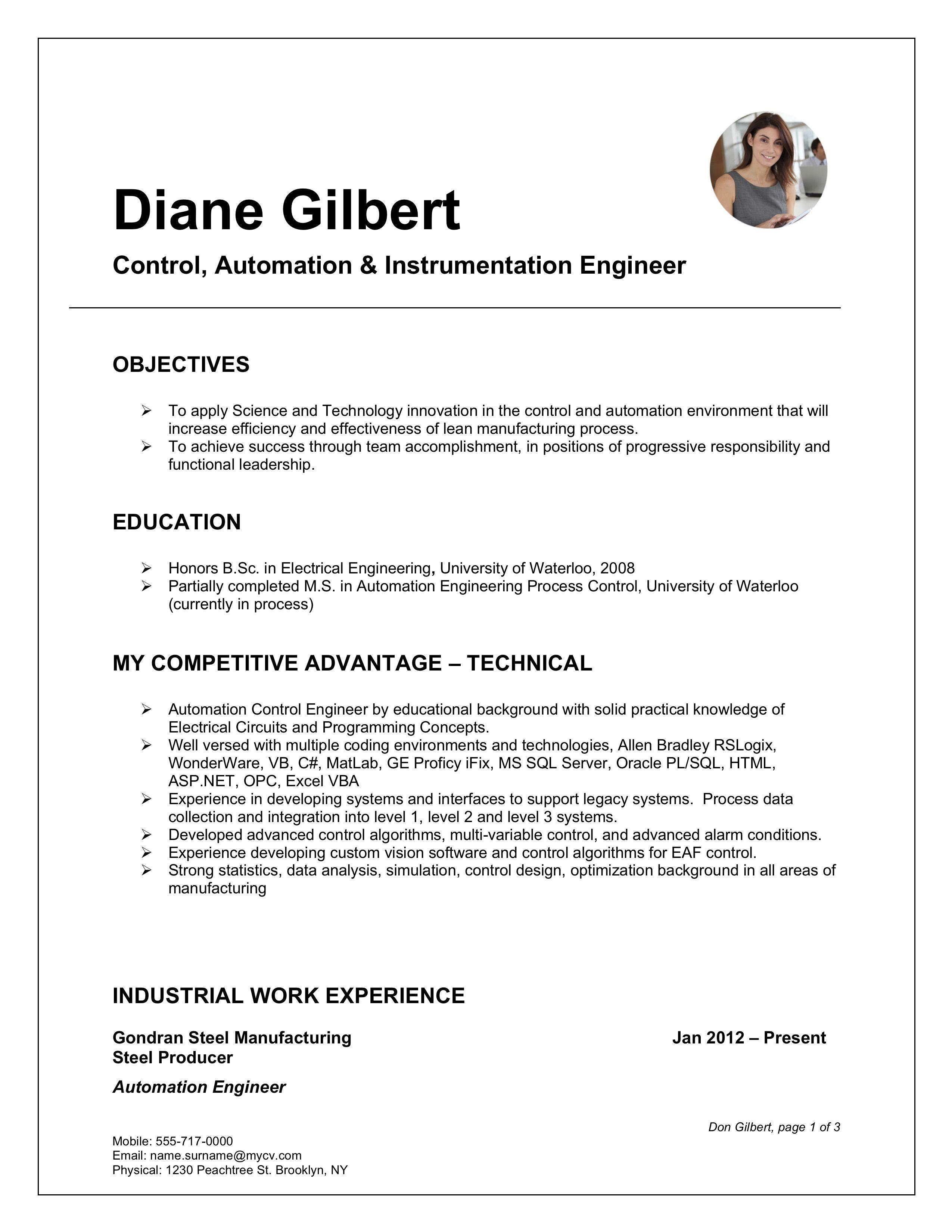 Free ms word resume template microsoft word resume