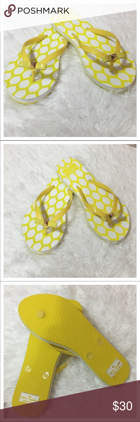 8a7adad7b214 NWOB Kate Spade Nova EVA Flip Flops - Yellow Lemon NWOB Kate Spade Nova EVA  Flip