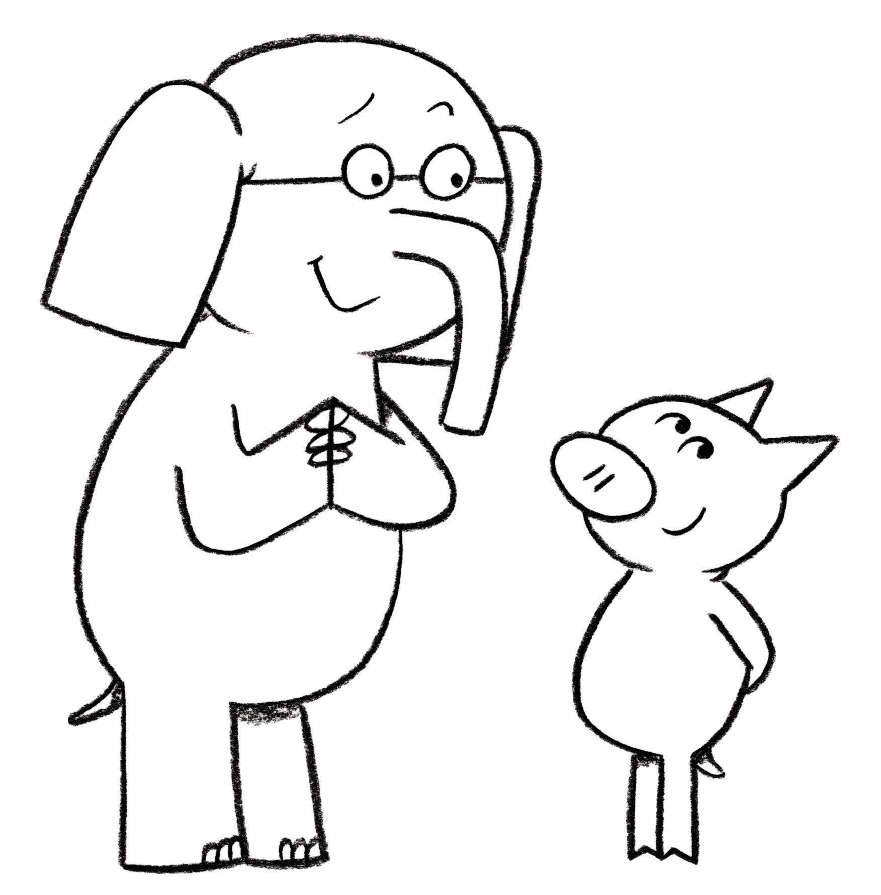 elephant and piggie coloring pages Elephant And Piggie Coloring Page | Coloring Pages | Coloring  elephant and piggie coloring pages