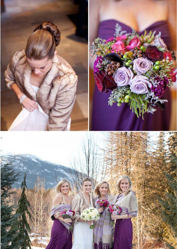 Winter Wedding By Erin Heart S Court Ii Cold Wedding Purple