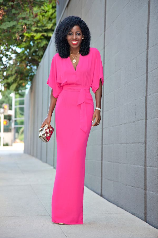 V-Neck Kimono Sleeve Maxi Dress [[MORE]]Outfit Details: Dress ...