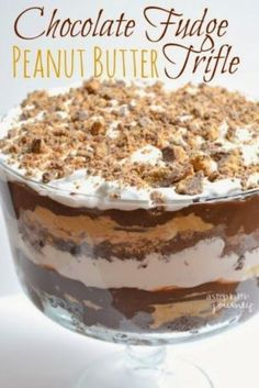 Chocolate Peanut Butter Trifle #trifledesserts