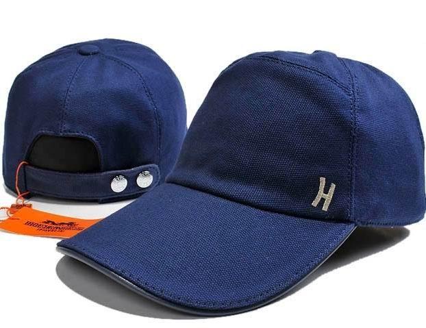 Hermes H Embroideries Baseball Cap Navy  03df84b74d8e