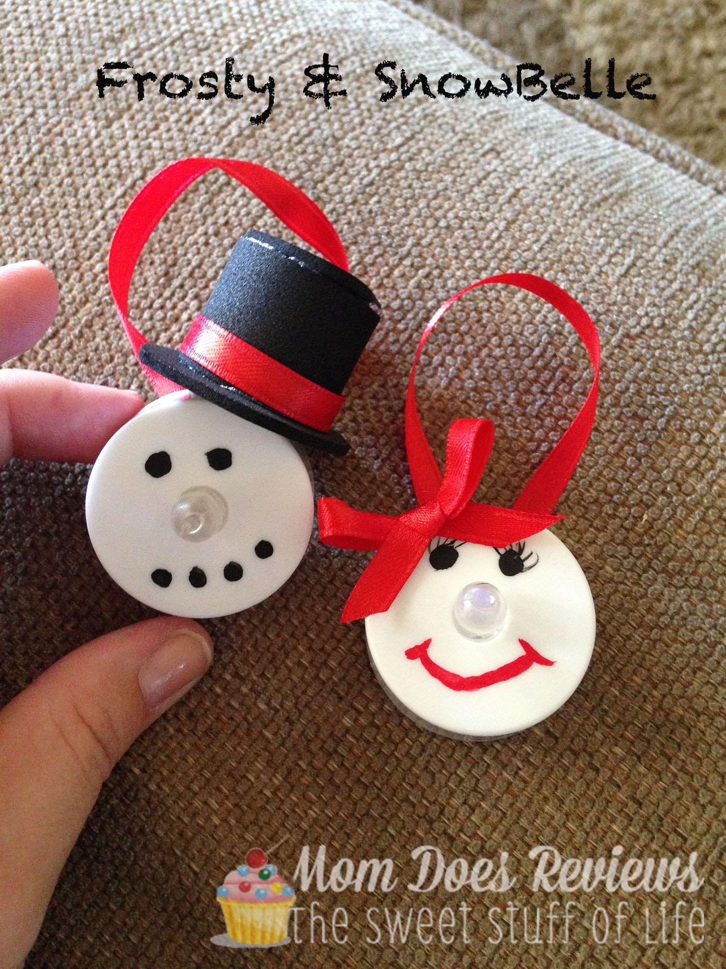 Diy Led Snowman Ornaments Christmascraft Handprint Christmas