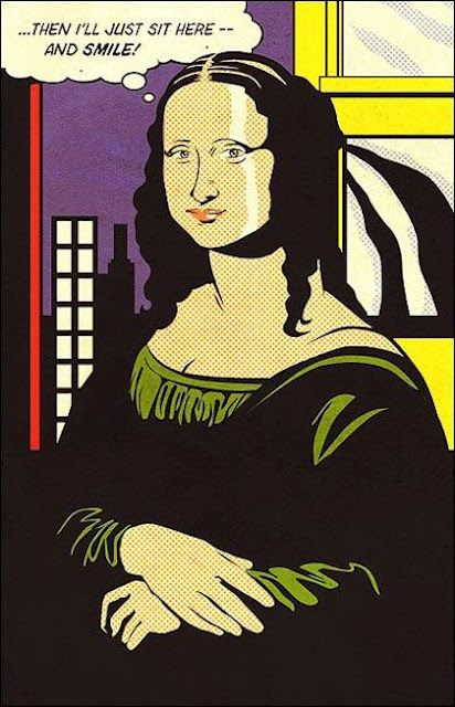 da vinci Gioconda o Mona Lisa en versió de Roy Lichtenstein