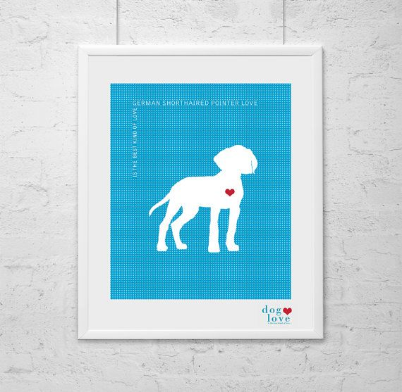German Shorthaired Pointer   Wall Art  Dog Print  by DogLoveShoppe, $17.50