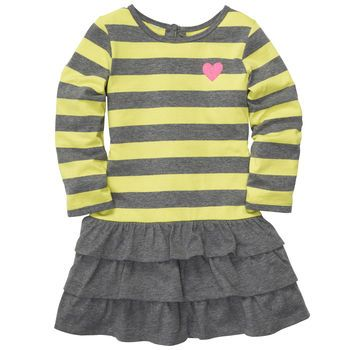 Gray and yellow kids dresses