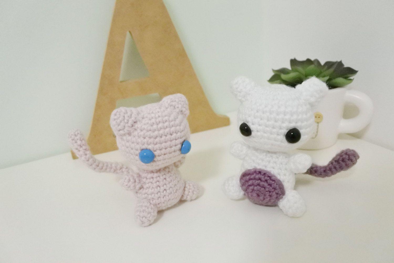 Mew+Mewtwo Amigurumi Pack/Crochet Stuffed Doll (Pokemon Inspired ...