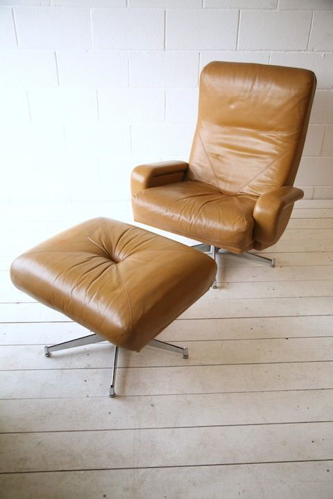 Prime 1970S Leather Swivel Chair And Stool Furniture Leather Creativecarmelina Interior Chair Design Creativecarmelinacom