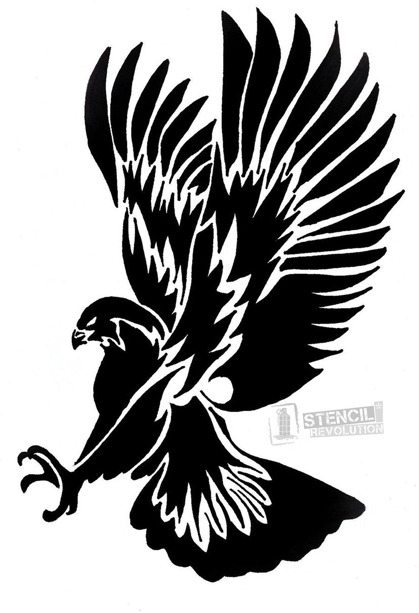 download your free eagles stencil here save time and start your