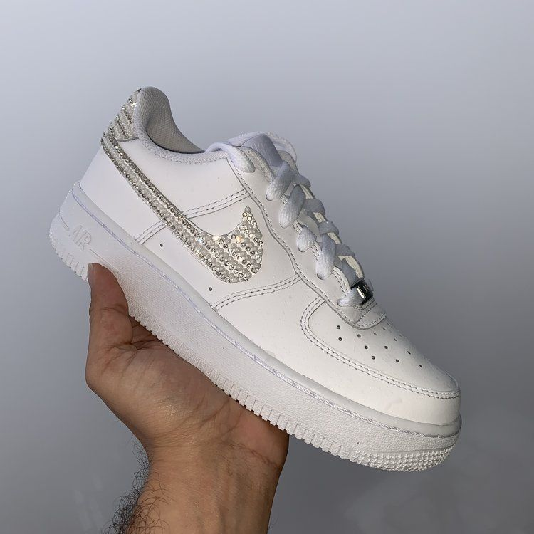Diamond Pearl Air Force 1 Custom | Nike shoes, Custom air