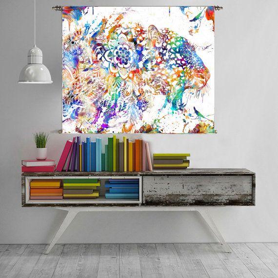 tableau affiche murale impression art mandala tapisserie murale boho tapisseries art mandala. Black Bedroom Furniture Sets. Home Design Ideas