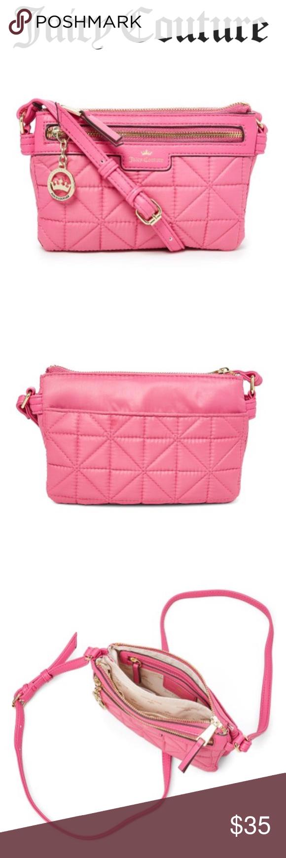 cab8434bc2 Juicy Couture Crown Jewel Crossbody Bag NWT. Flamingo pink. Quilted.  Medium. Juicy