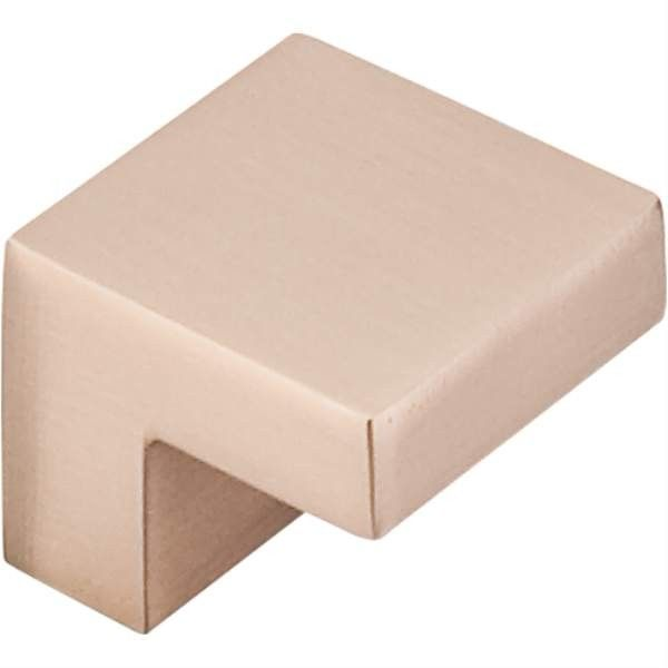 Top Knobs: Square Knob 5/8 Inch (C-C) - Brushed Bronze