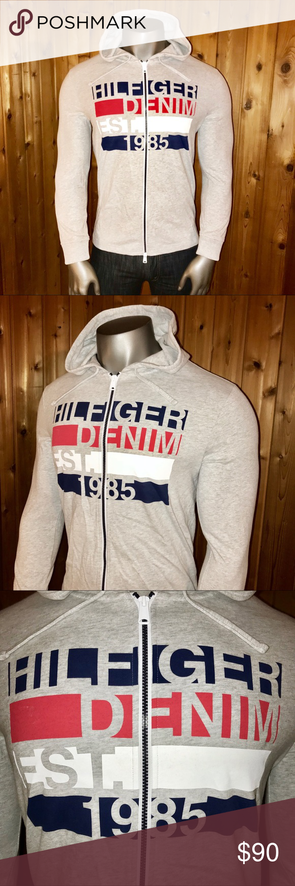 ae3a2bb78ef54 Tommy Hilfiger Denim Men's Classic Hoodie Brand New With Tags! Size: U.S.