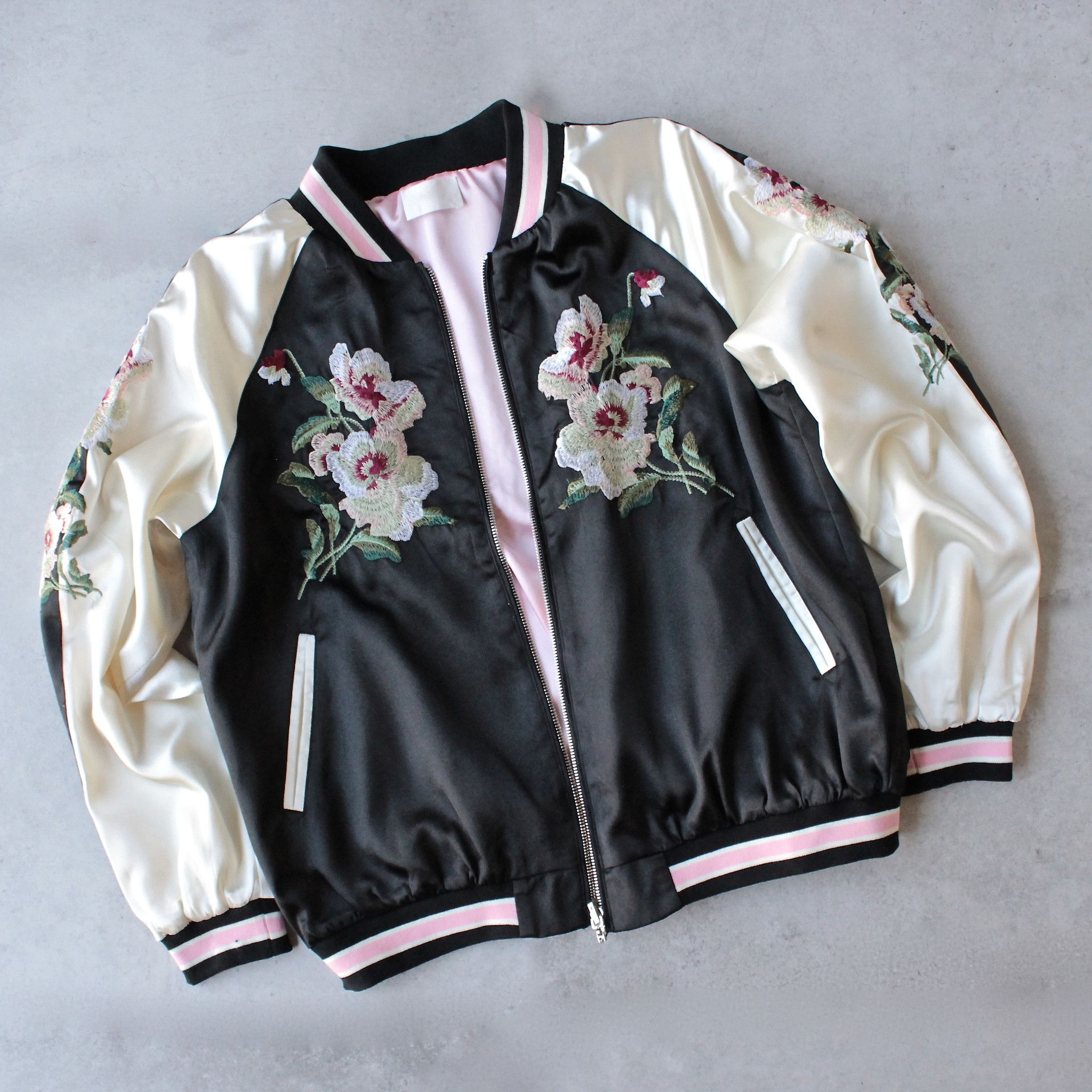 Reversible Floral Embroidered Bomber Jacket Shophearts 1 Embroidered Bomber Jacket Jackets Bomber Jacket Outfit [ 2048 x 2048 Pixel ]