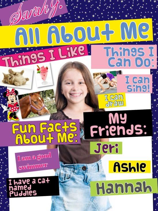 Me Collage : collage, About, Collage, Ideas, School, Activities,, Lessons