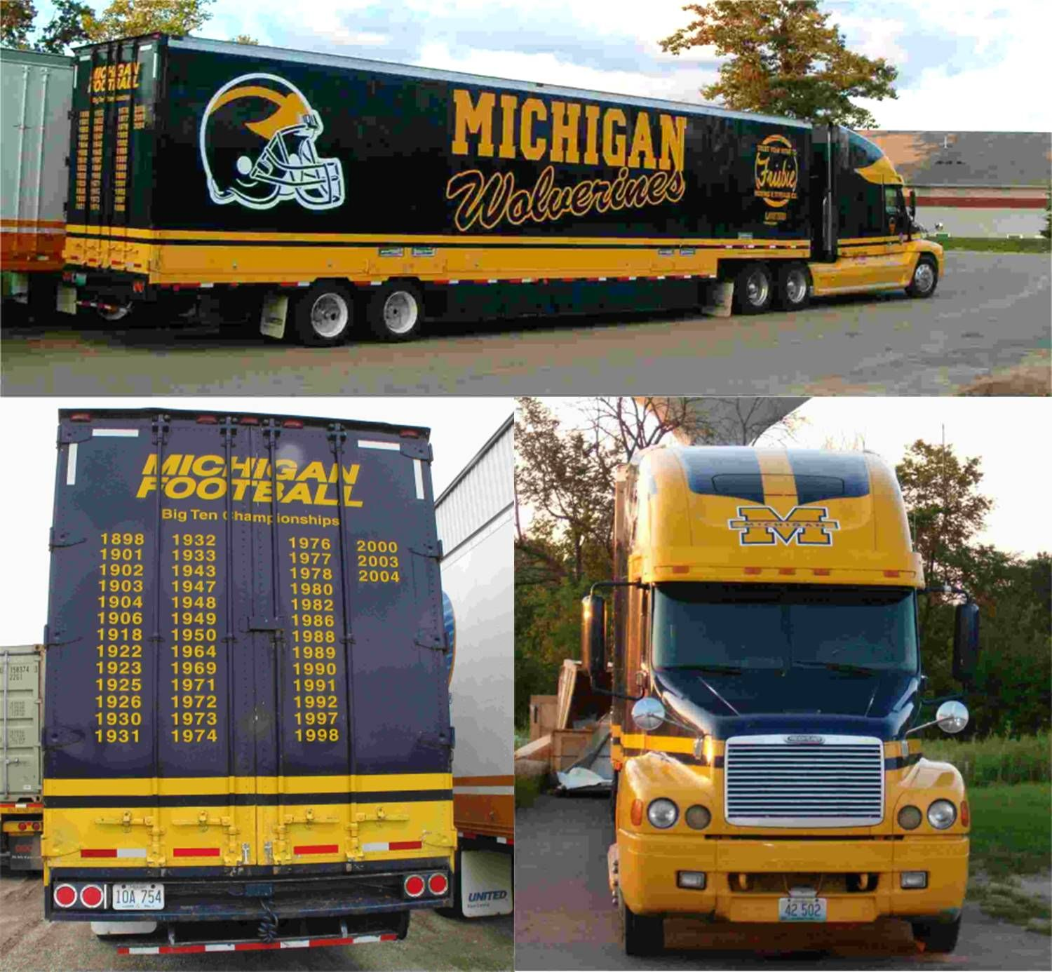 University of Michigan Wolverines equipment transporter for away