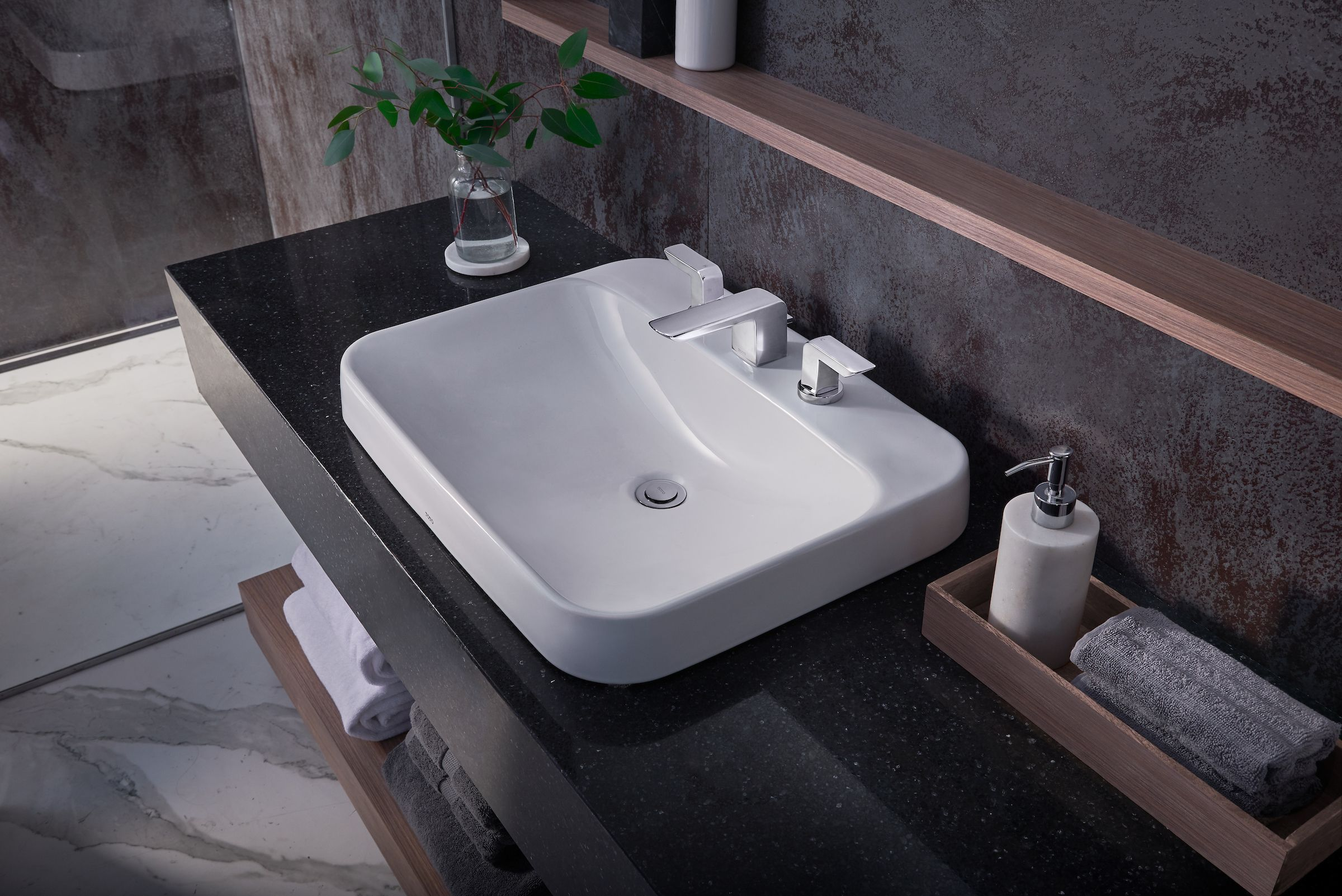 Mornings Set The Tone For Our Day Wash Off That Bright Face With Toto Bathroom Inspiration Modern Minimalist Bathroom Design Sink