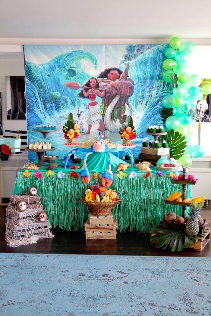 Moana birthday party on kara 39 s party ideas for 5th birthday decoration ideas