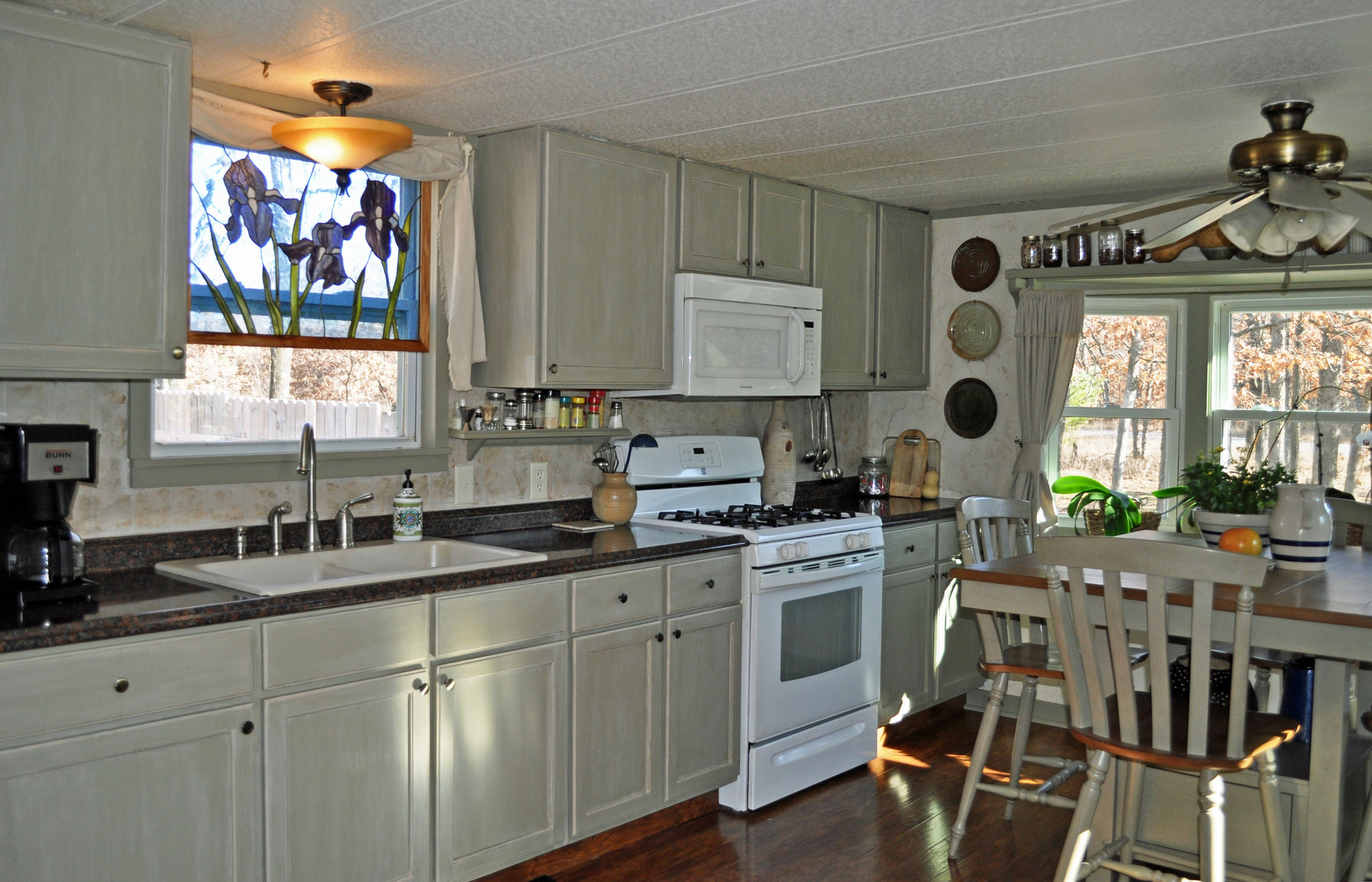 Single Wide Mobile Home Diy Remodel Makeover Small Kitchen Low