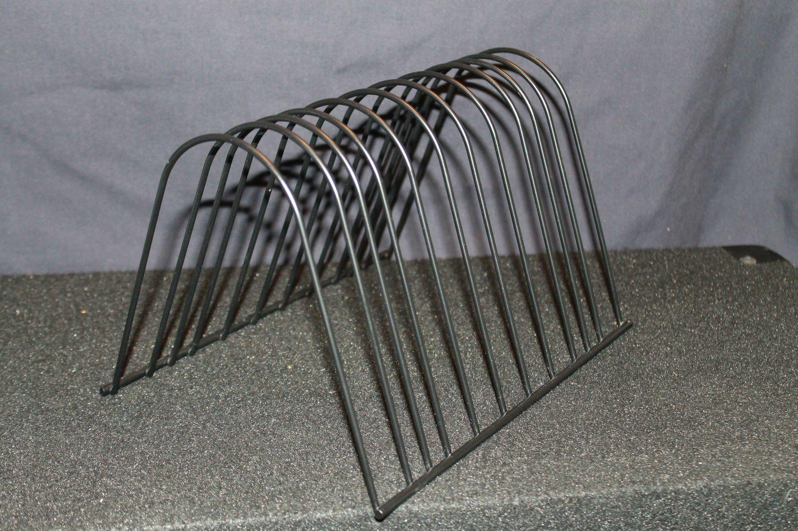 Vintage Lp Metal Wire Storage Rack Stand Holder Display