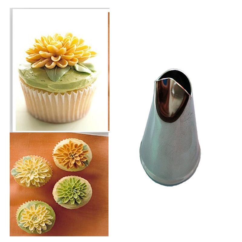 Chrysanthemum Stainless Steel Icing Piping Nozzles Pastry Tips