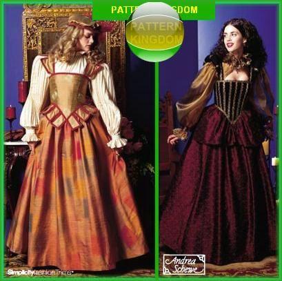 Simplicity 9256 Elizabethan Nobility Tudor Gown Patterns ...