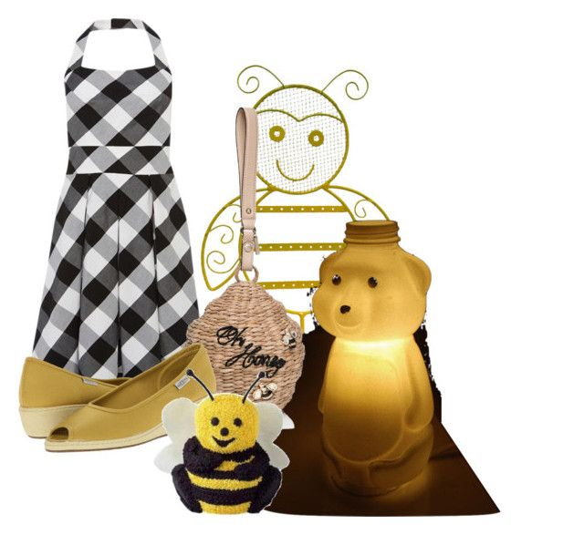 """""""~~the beesRbuzzing in the trees 2make some honey just4 me~"""" by daughterofthemosthigh ❤ liked on Polyvore featuring jcp, Karen Millen, Kate Spade, Keen Footwear and halterdresses"""