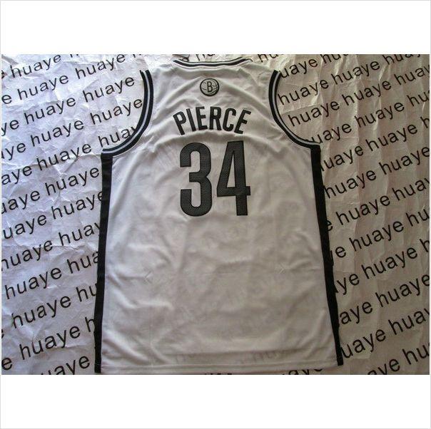 Men's Brooklyn Nets #34 Pierce White Swingman NBA Basketball Jersey 820103337403 on eBid United States