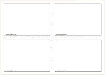 Free Printable Flash Cards Template Flash Card Template Printable Flash Cards Templates Printable Free