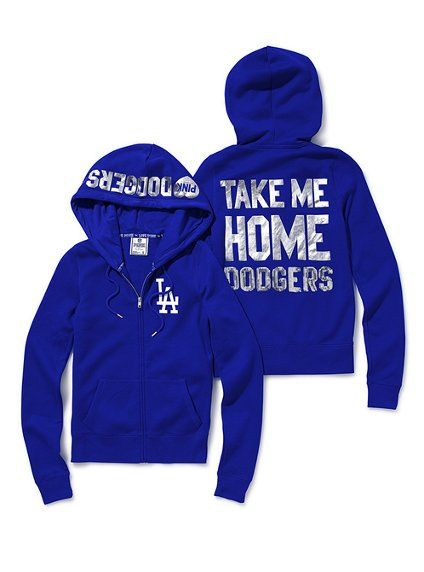 d9612efb028 Los Angeles Dodgers Bling Zip Hoodie - Victoria s Secret Pink® - Victoria s  Secret