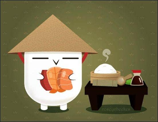 Cute Sushi Wallpaper Google Search Sushi Time Sushi Art