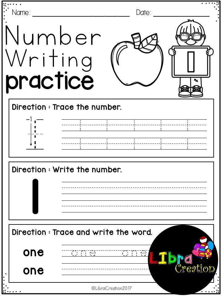 Printable Worksheets number 0 worksheets : Number 0 - 20 Writing Practice | Number writing practice, Number ...