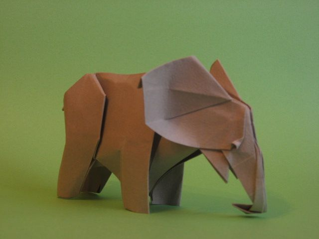 Origami Elephant By Gen Hiantart On Deviantart Paper