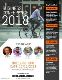 business conference flyer flyer template pinterest templates
